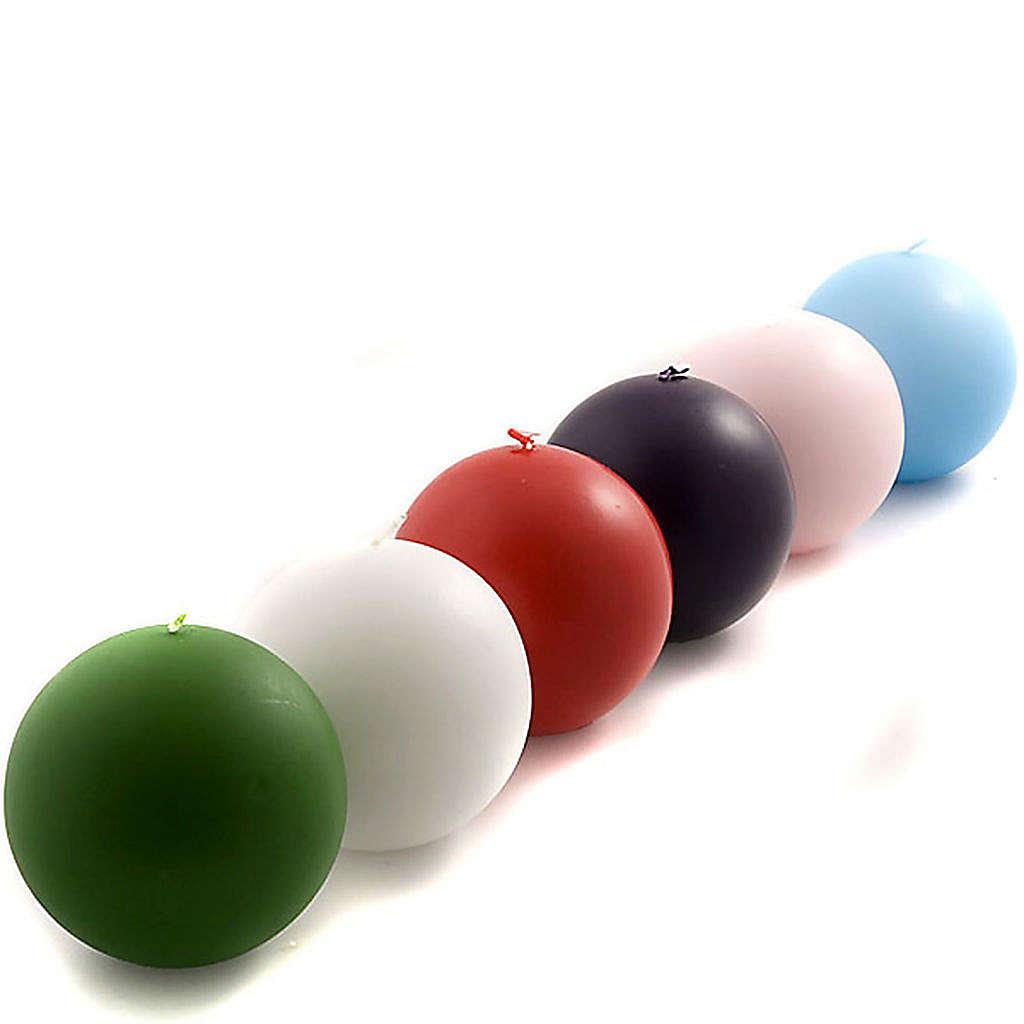 Bougie ronde opaque diamètre 10 cm 3