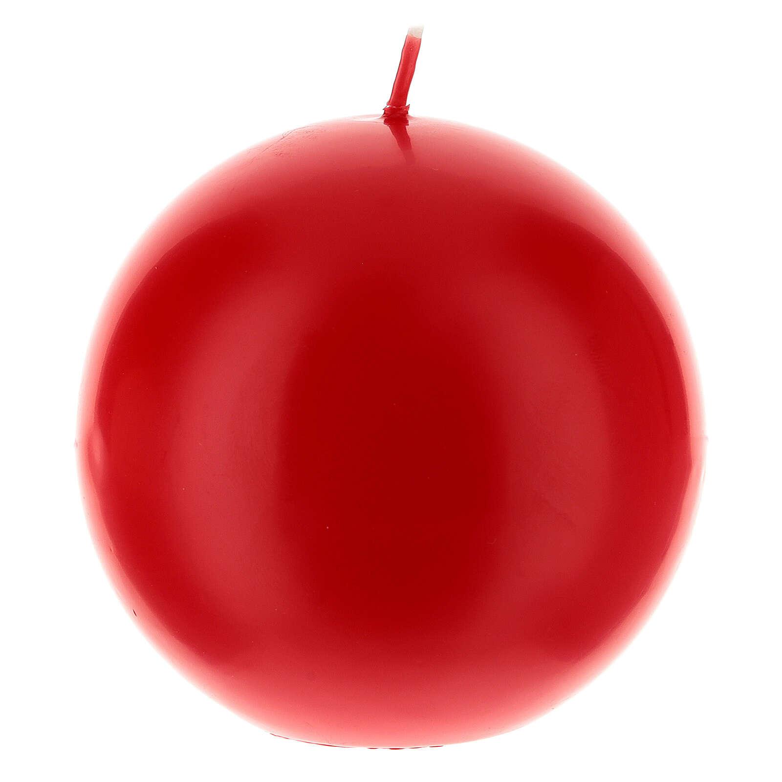 Świeczka kula matowa wielkość 10cm. 3