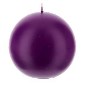 Świeczka kula matowa wielkość 10cm. s5