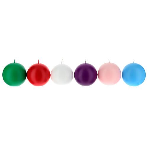 Świeczka kula matowa wielkość 10cm. 1