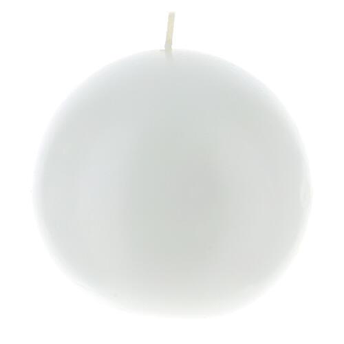 Świeczka kula matowa wielkość 10cm. 4