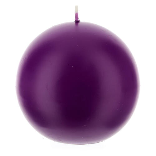 Świeczka kula matowa wielkość 10cm. 5