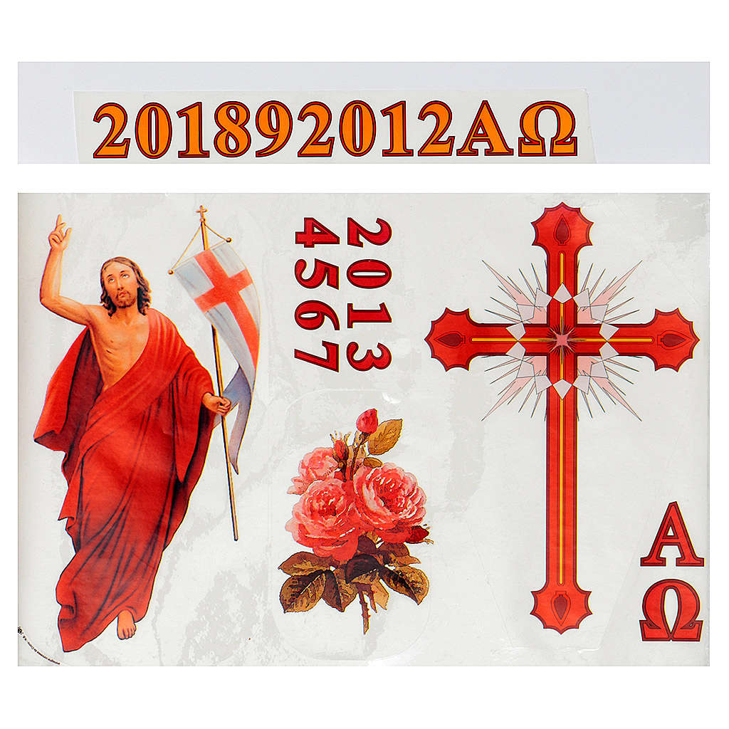 Sticker for Paschal Candle, set A 3