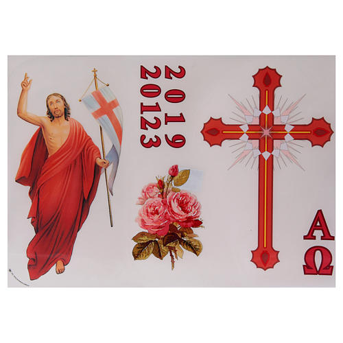 Sticker for Easter Candle, set A 1