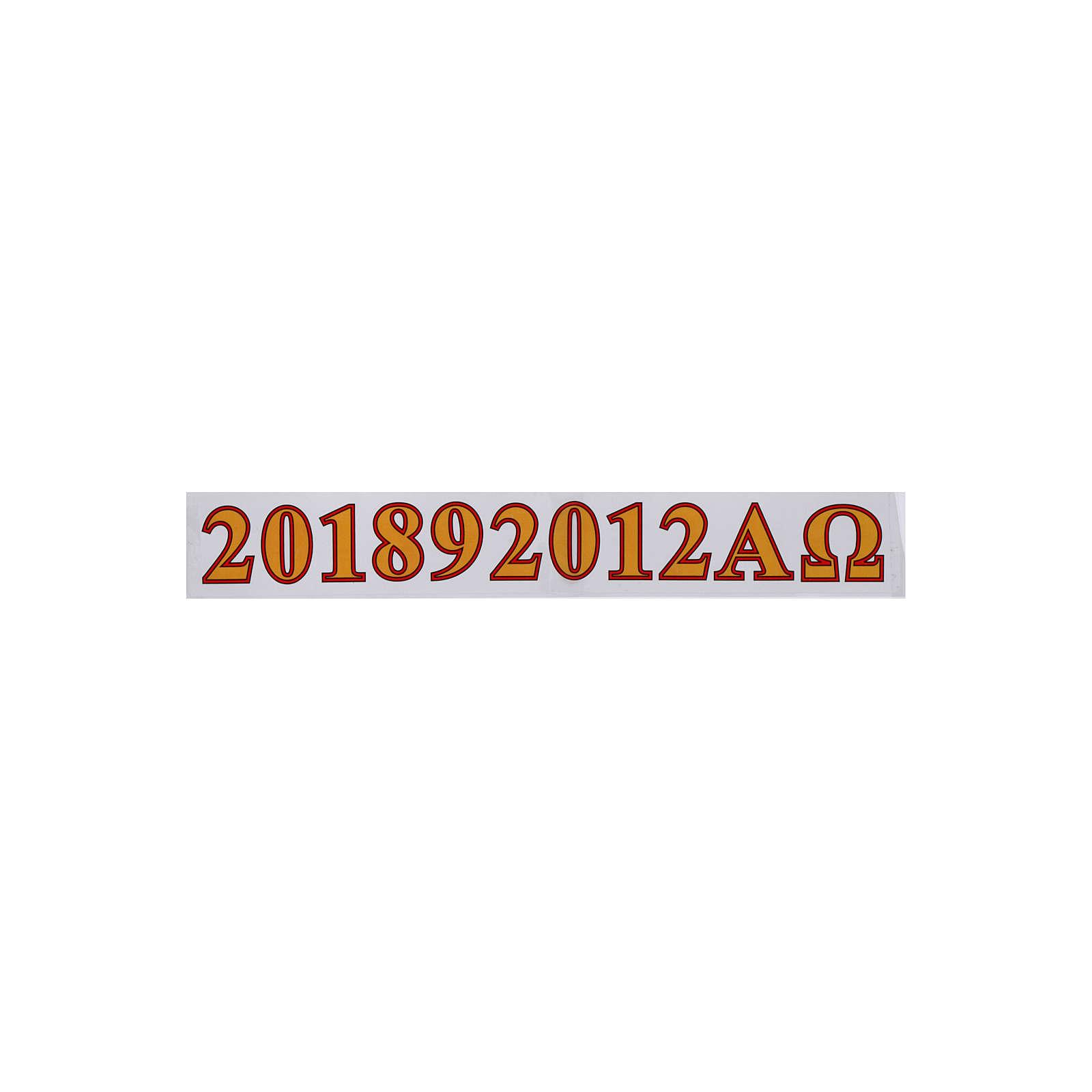 Adesivi cero Pasquale alfa, omega e anno 3