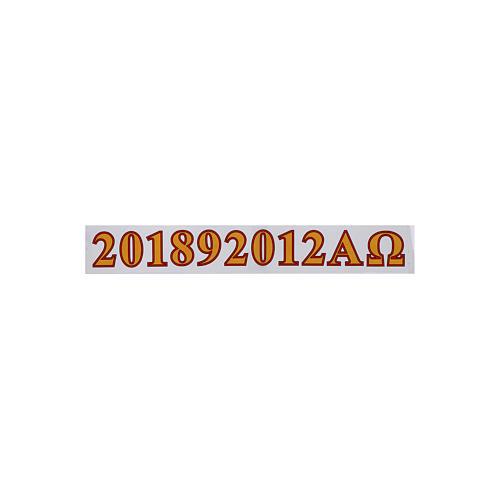 Adesivi cero Pasquale alfa, omega e anno 1