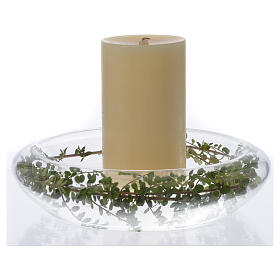 RC-Candle-holder in glass s2