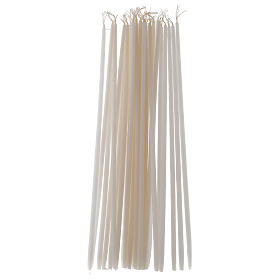Candles, large candles: White Tape Candles Non-drippings - 100 pack