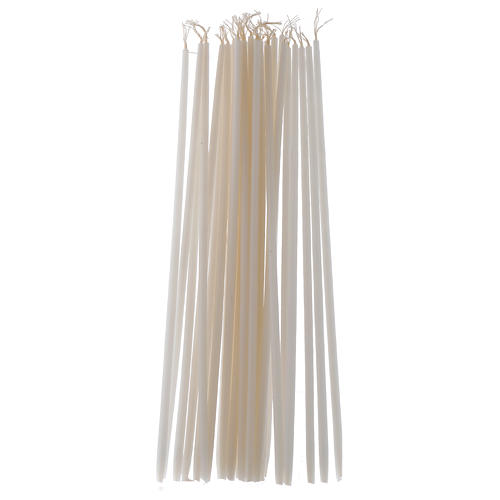White Tape Candles Non-drippings - 100 pack 1