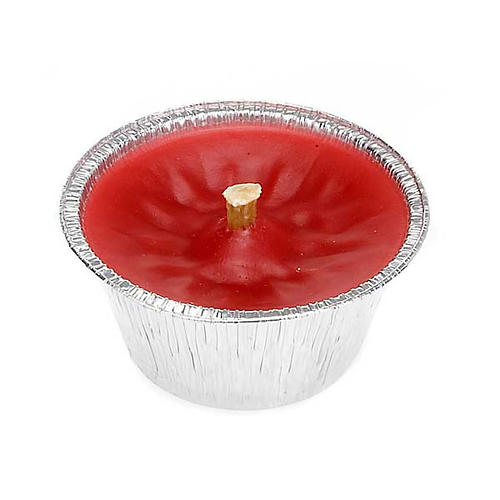 Windproof Red Wax Candle, diam 8 cm 1