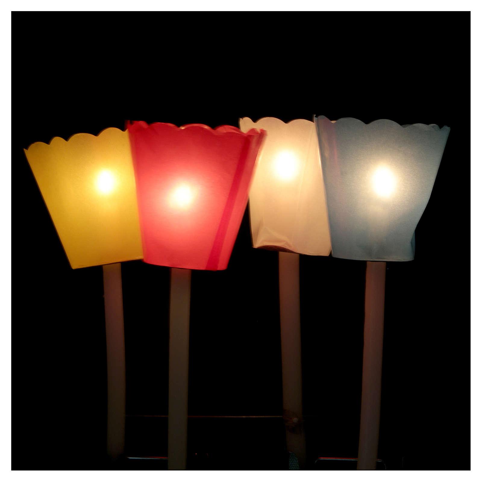 Protetor de vela papel para procissão (100 unidades) 3