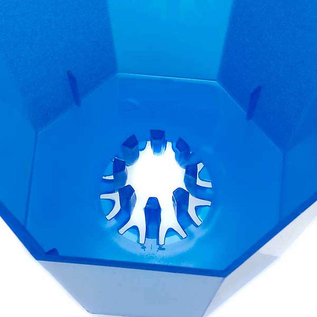 Protetor de vela em plástico corado 20 unidades 3