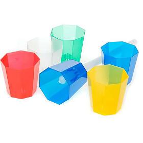 Protetor de vela em plástico corado 20 unidades s1