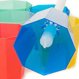 Protetor de vela em plástico corado 20 unidades s3