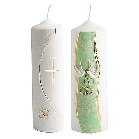 Bougies, cierges, chandelles: lampe mariage décor à la main