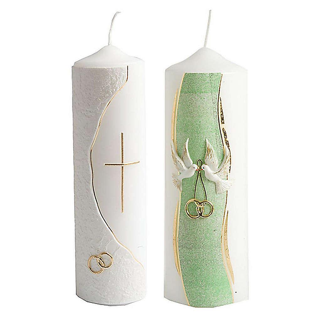 Hand Decorated Candle -Nuptiae 3