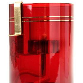 Portafiammella ad olio per vetro rubino s3