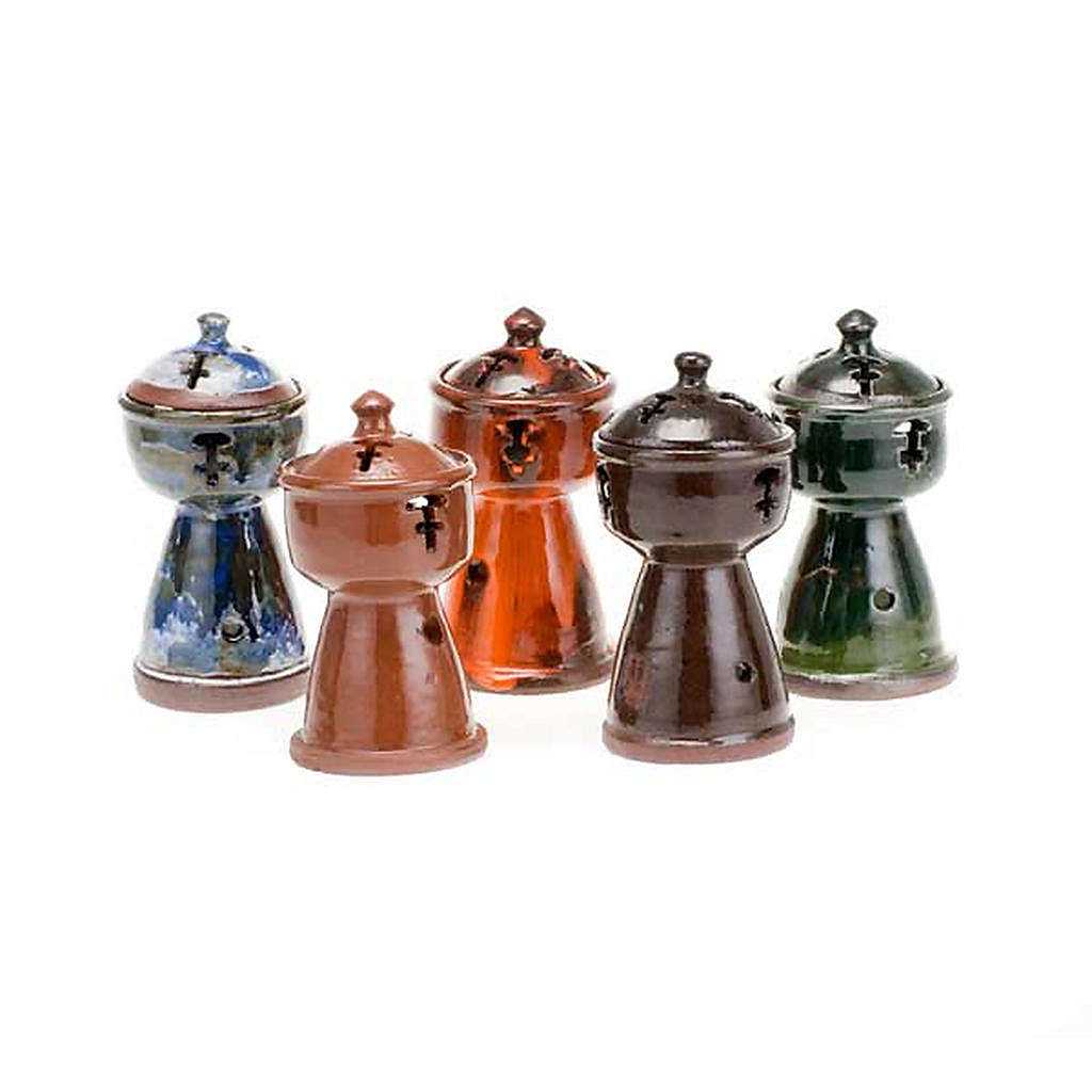 Ethiopian coloured incense-burner 3