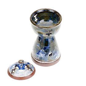 Ethiopian coloured incense-burner s6