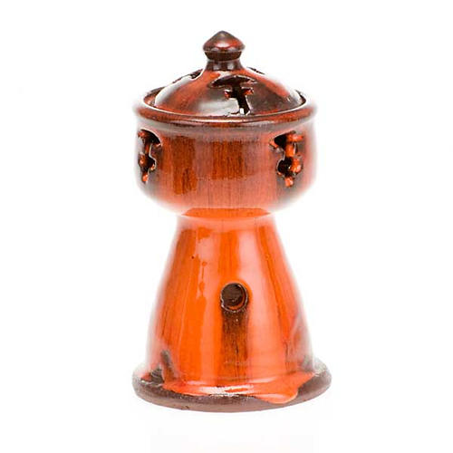 Ethiopian coloured incense-burner 2