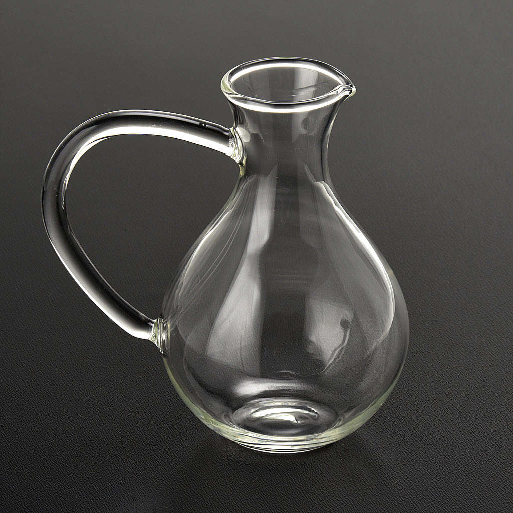 Pair of cruets in hand-blown glass 4
