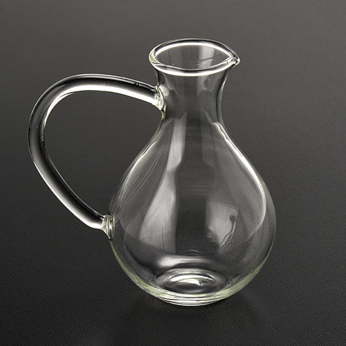 Pair of cruets in hand-blown glass 2