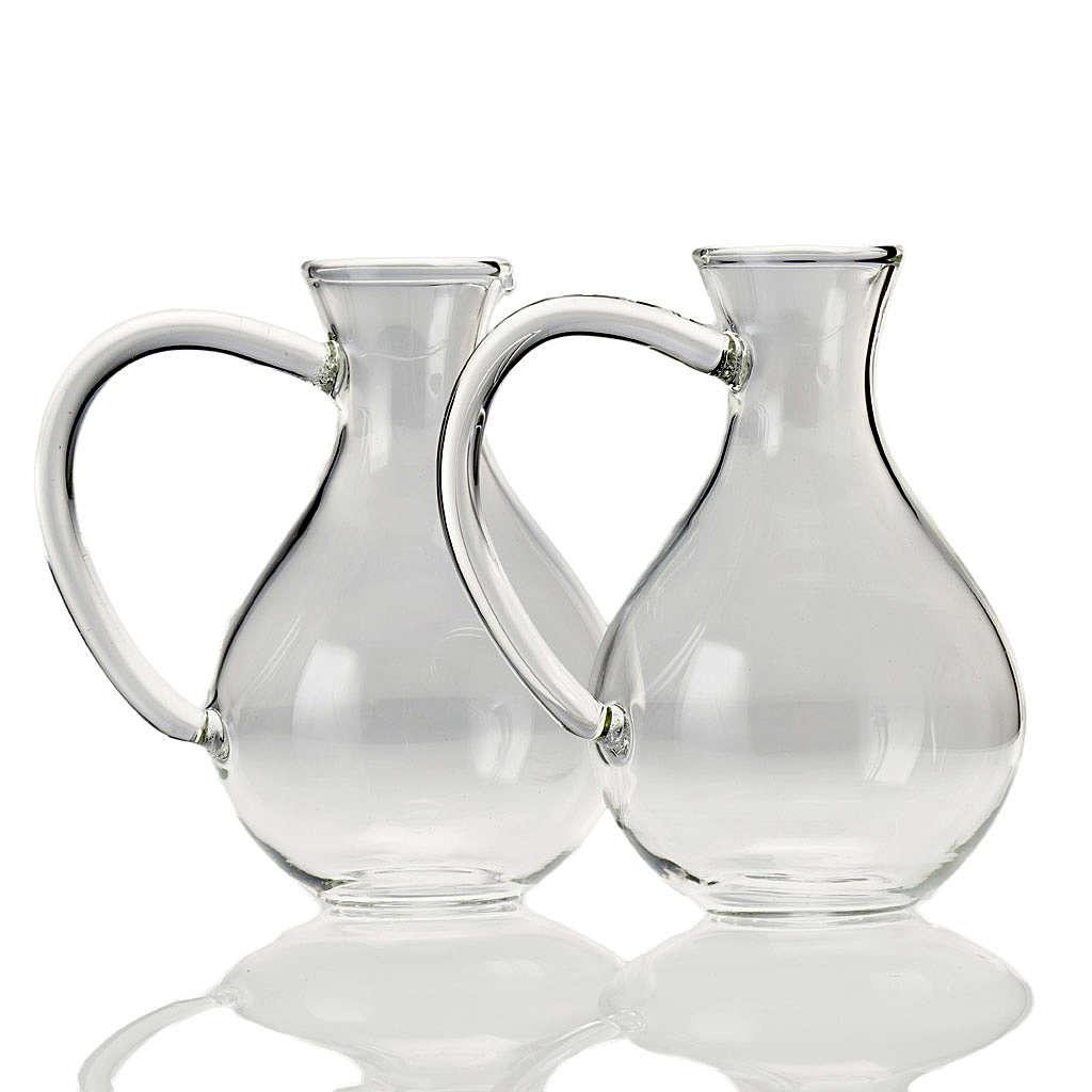 Pair of cruets in hand-blown glass 4