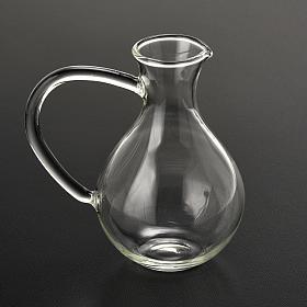 Pair of cruets in hand-blown glass s2
