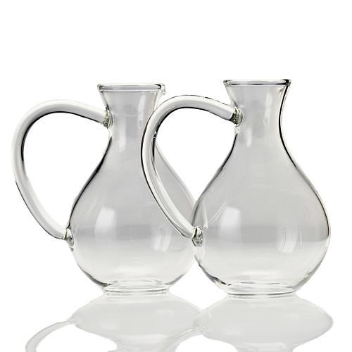 Pair of cruets in hand-blown glass 1