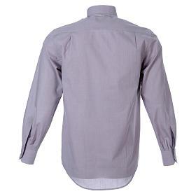 STOCK Camisa manga larga Fil a Fil gris claro s2