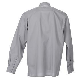 STOCK Camicia clergyman manica lunga popeline grigio chiaro s2