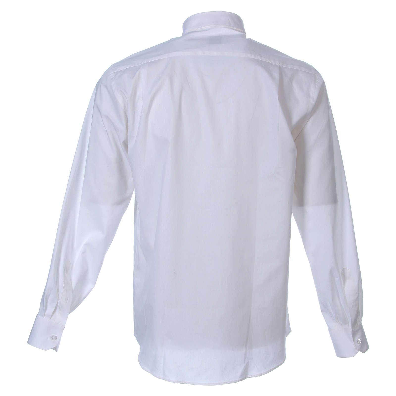 STOCK Camisa m. larga popelina blanca 4