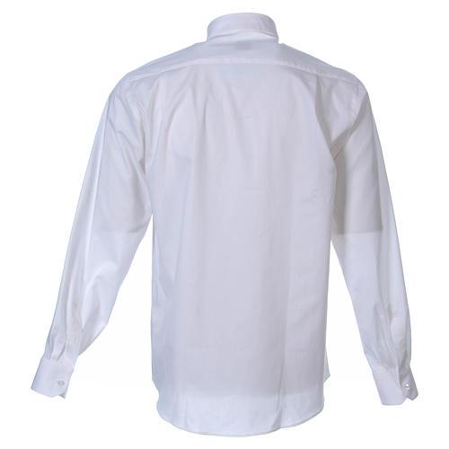 STOCK Camisa m. larga popelina blanca 2