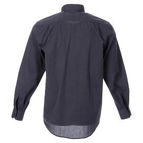 STOCK Camicia clergy manica lunga filafil grigio scuro s2