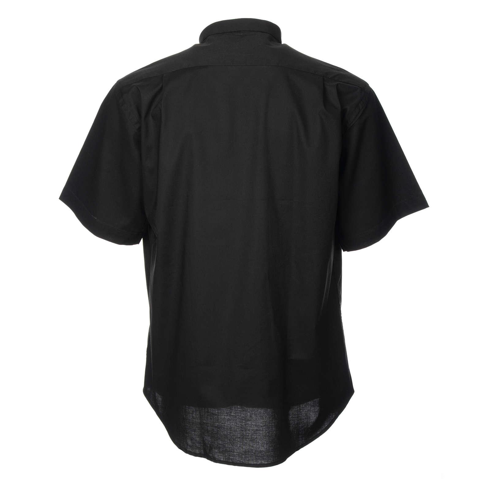 STOCK Koszula kapłańska krótki rękaw mieszana bawełna 4