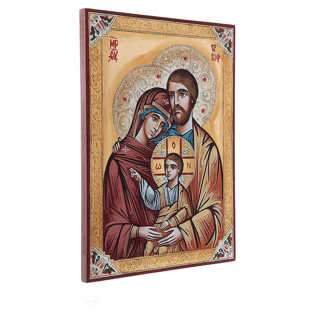 Icona Sacra Famiglia decori e strass 4