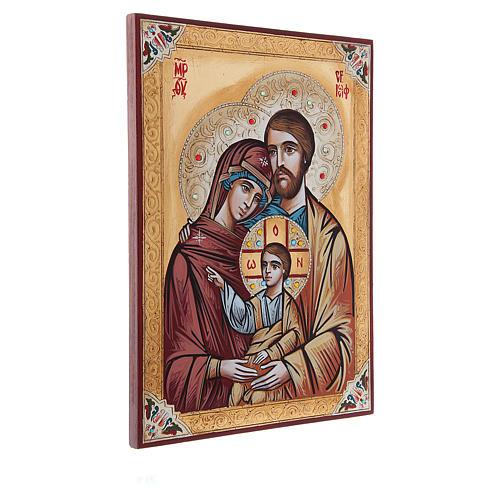 Icona Sacra Famiglia decori e strass 2