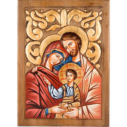 Sainte Famille, fond décoré 1