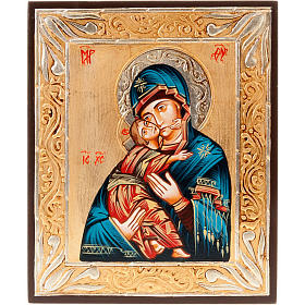 Rumanian hand-painted icons: Virgin of Vladimir Icon, Romania