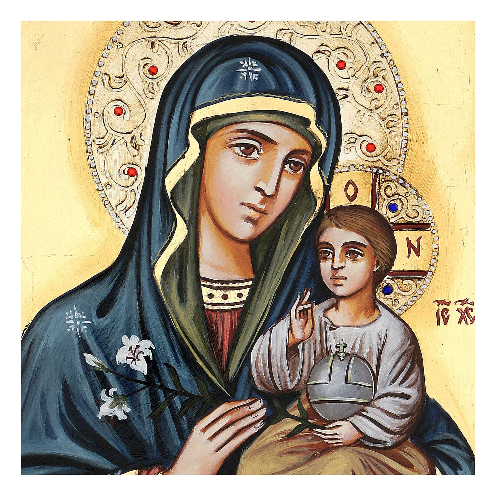 Vierge Odighitria et paillettes 4