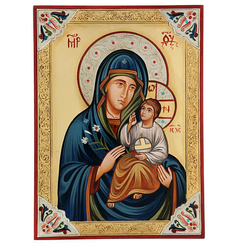 Icona Vergine Odighitria greca strass