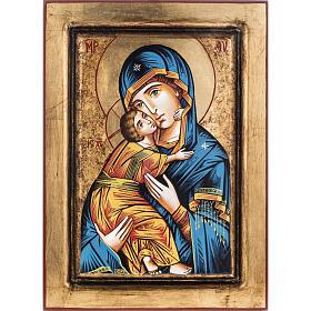 Icona Vergine di Vladimir stile bizantino s1