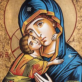 Icona Vergine di Vladimir stile bizantino s2