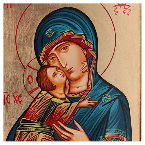 Icona Vergine di Vladimir stile bizantino