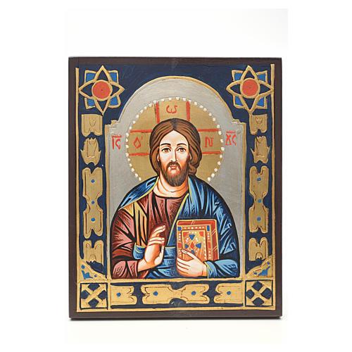 Icona Cristo Pantocratore decorata 1