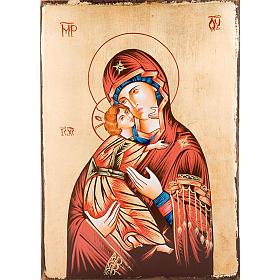 Icona Vergine di Vladimir bordo irregolare s1
