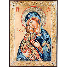 Vierge de Vladimir, bords dorés s1