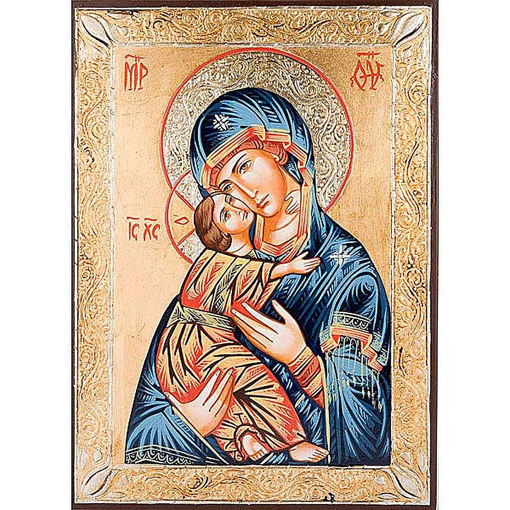 Icona Vergine di Vladimir greca dorata 4