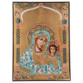 Rumanian hand-painted icons: Virgin of Kazan
