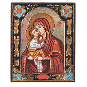 Rumanian hand-painted icons: The Virgin of the Don
